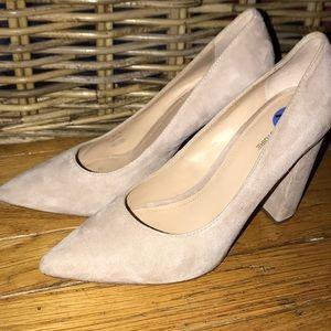 Cream Block Heel